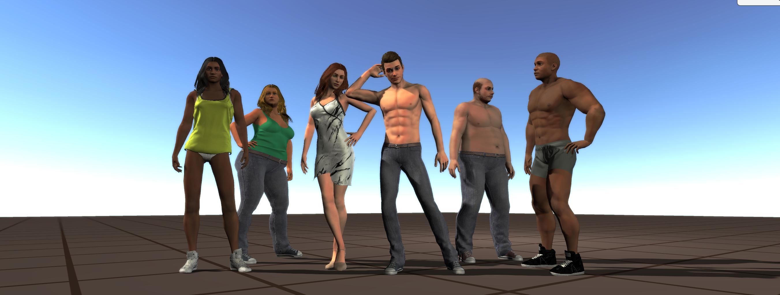 o3n Male and Female UMA Races (1 0 from Bastioni Models